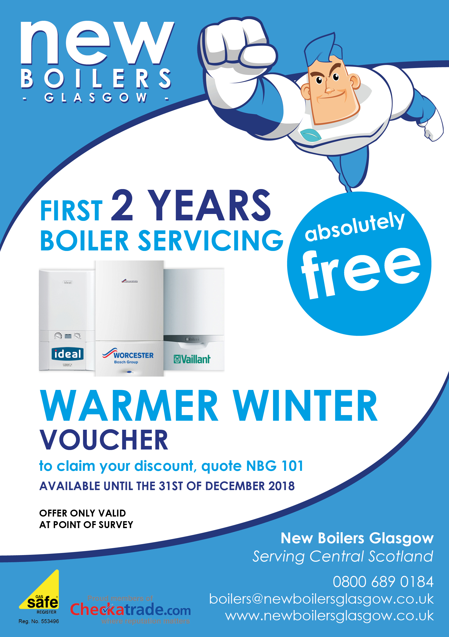 New Boilers & Central Heating Systems Glasgow & Lanarkshire